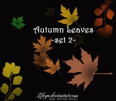 Autumn Leaves set 2 by Lileya