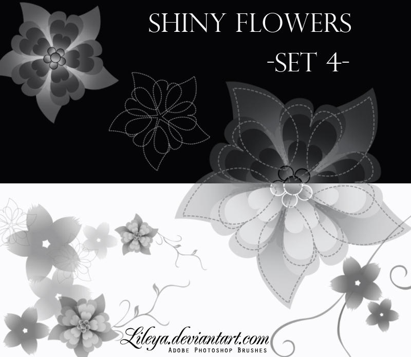 Shiny Flowers set 4 by Lileya