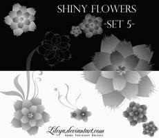 Shiny flowers -set 5 by Lileya