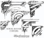 Scroll Banner Corners