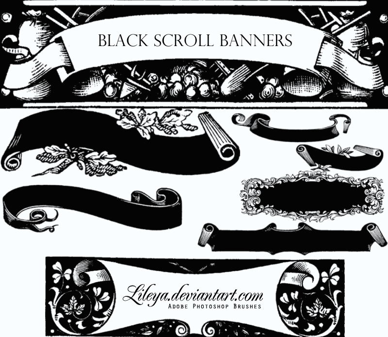 Black Scroll Banners By Lileya On Deviantart Find & download free graphic resources for scroll banner. deviantart