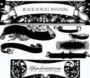 Black Scroll Banners by Lileya