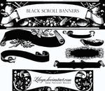 Black Scroll Banners