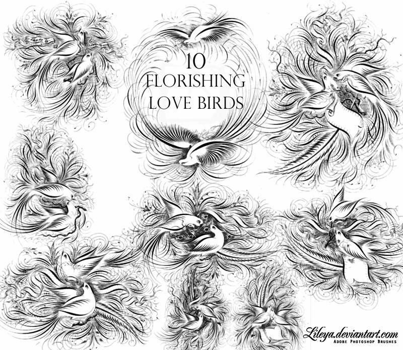Flourishing Love Birds by Lileya