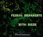 Floral Ornaments with Birds