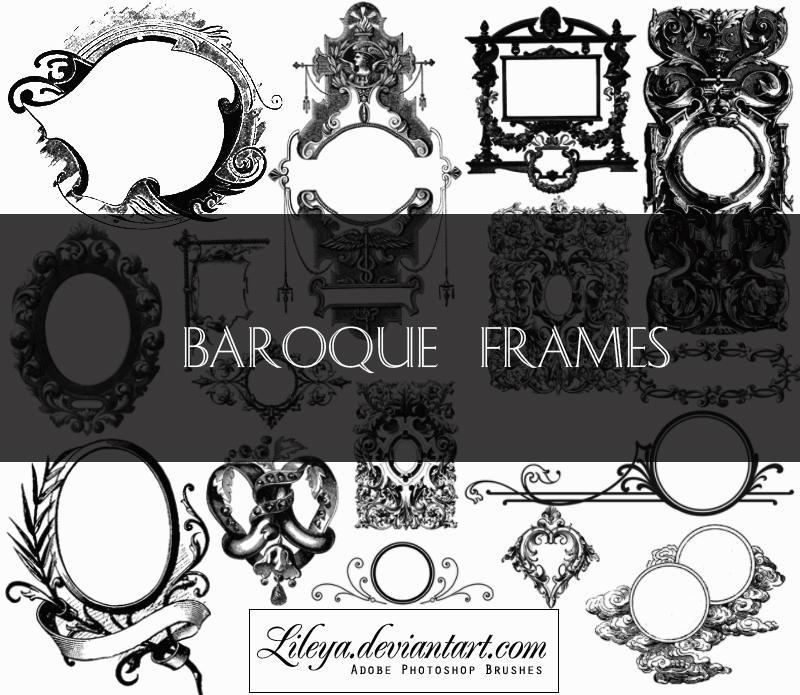 Baroque Frames by Lileya on deviantART