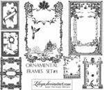 Ornamental Frames set 3