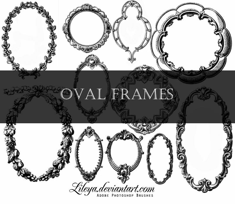 Oval Frames by Lileya on DeviantArt