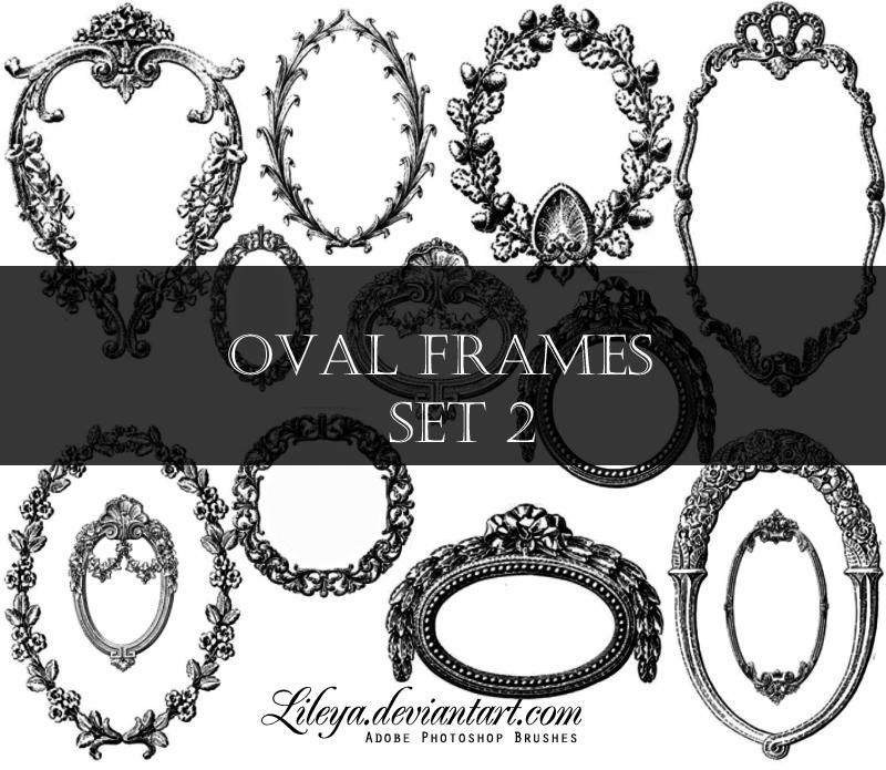 oval frames set 2 by lileya