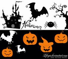 Halloween Brush Set by Lileya