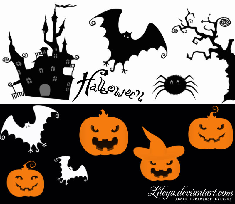 Halloween Brush Set by Lileya