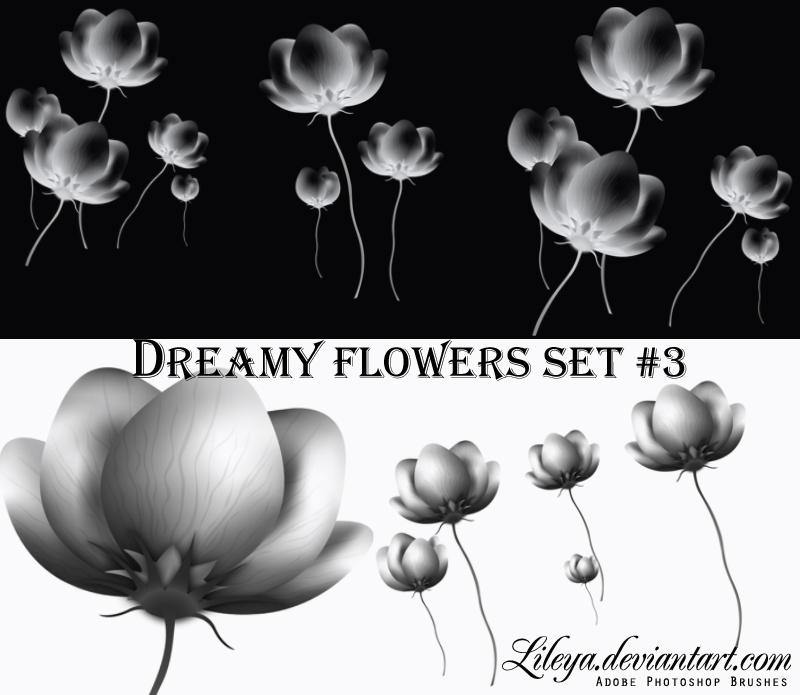 Dreamy Flowers set 3 by Lileya