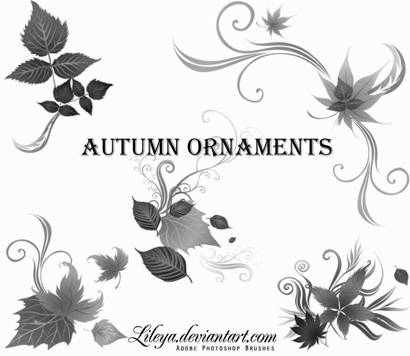 Autumn Ornaments by Lileya