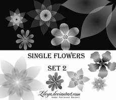 Single Flowers -set 2- by Lileya