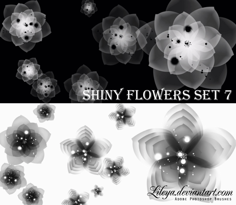 Shiny Flowers - set 7