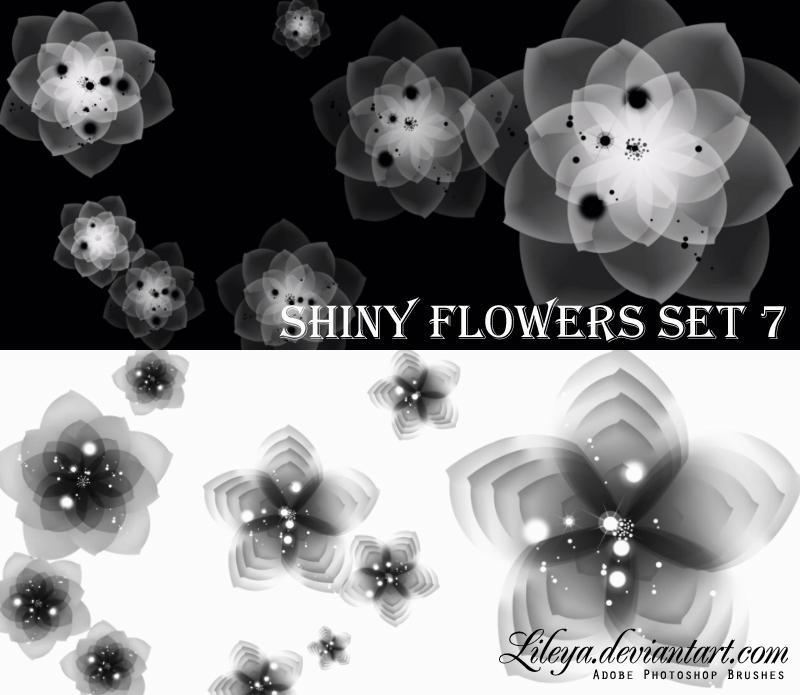 Shiny Flowers - set 7 by Lileya