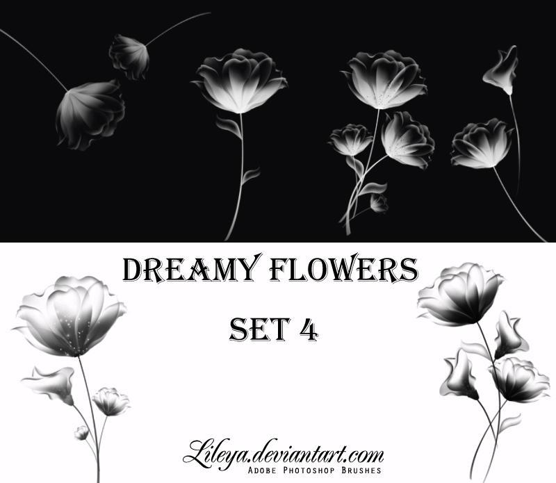 Dreamy Flowers -set 4- by Lileya