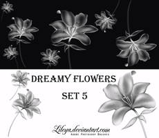 Dreamy Flowers set 5 by Lileya