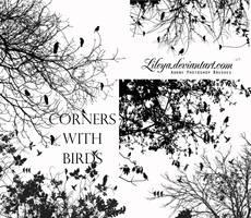 Corners with Birds by Lileya