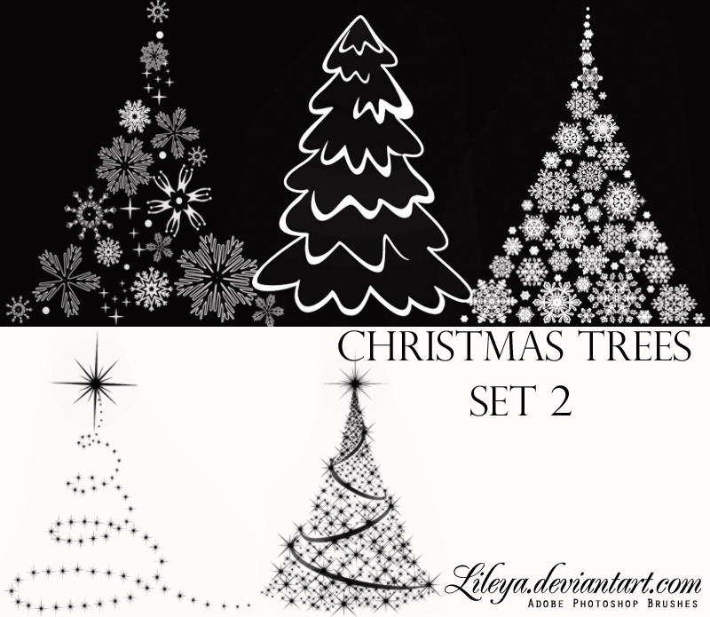 Christmas Tree brushes set2 by Lileya