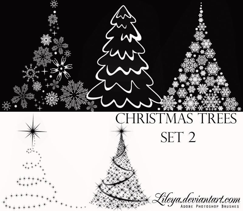 Christmas Tree brushes set2 by Lileya