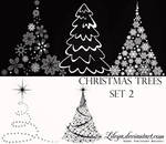 Christmas Tree brushes set2