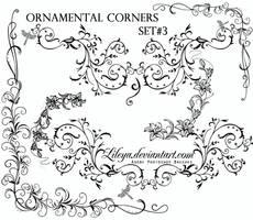 Ornamental Corners set 3 by Lileya
