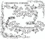 Ornamental Corners set 3
