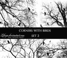 Corners with Birds - set 2