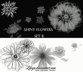 Shiny Flowers set 8