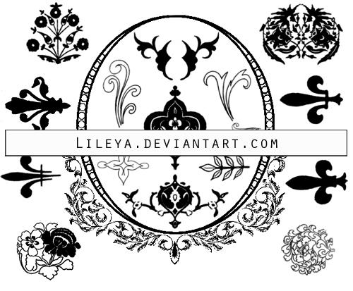 Floral ornaments PS brushes by Lileya