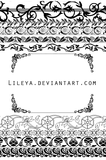Ornamental frames - set 2