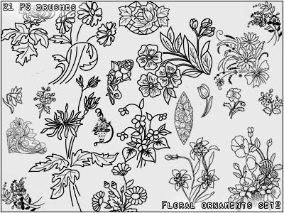 Floral ornament set 2 by Lileya