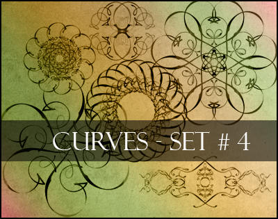 Photoshop brushes-curves set 4 by Lileya