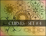 Photoshop brushes-curves set 4