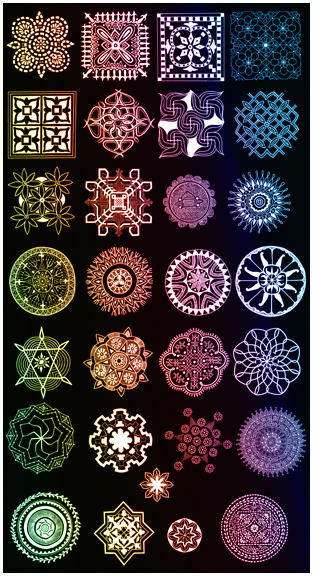 Indian ornaments - set 2 by Lileya