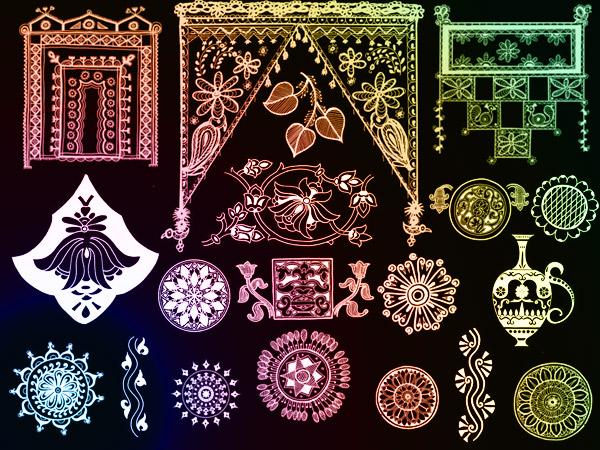 Indian ornaments - set 3