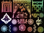 Indian ornaments - set 3