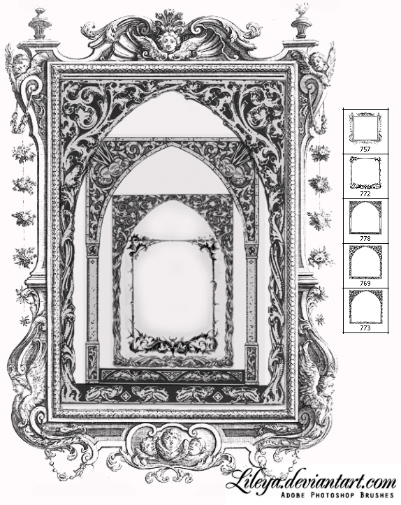 Gothic frame brushes