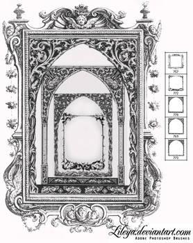 Gothic frame brushes