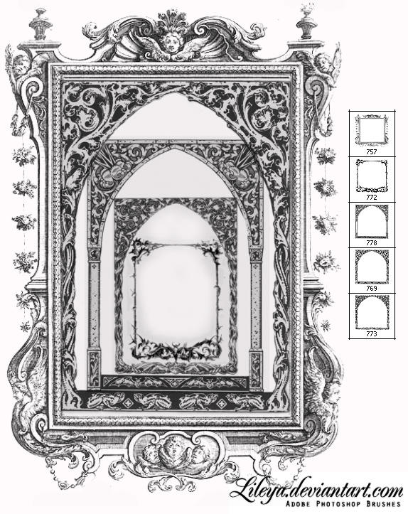 Gothic frame brushes by Lileya on DeviantArt