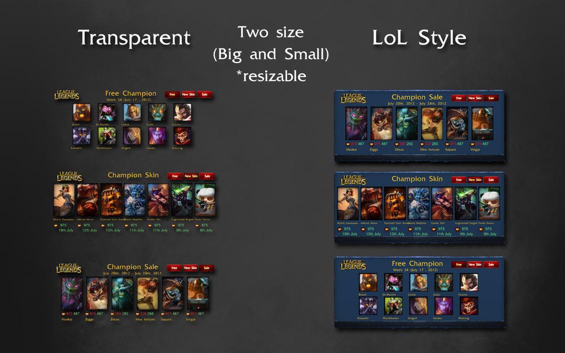 League Of Legends Champion Kit [Free,Sale,New] by pilouk