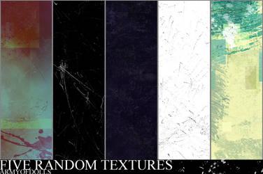 5 Random Textures by armyofdolls