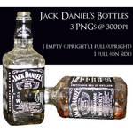 Jack Daniel's Bottles by policegirl01