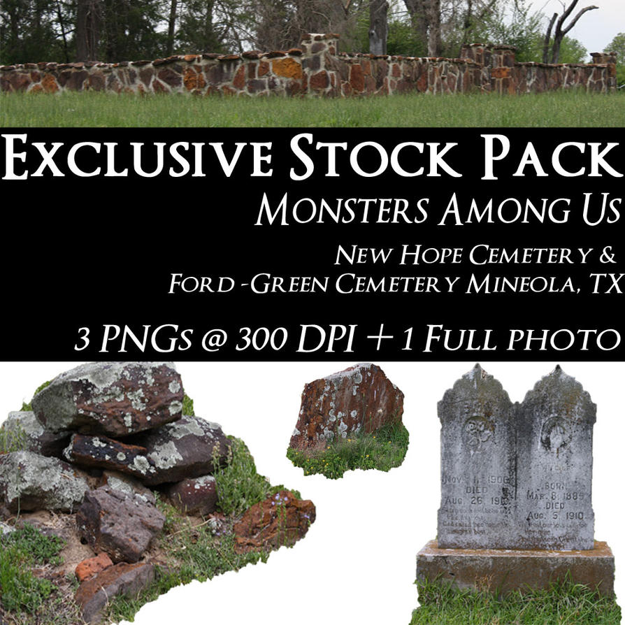 Exclusive Stock Pack -- Monsters Among Us by policegirl01