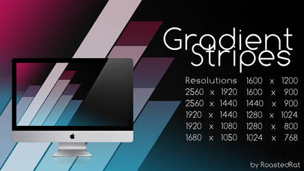 Gradient Stripes Wallpaper by RoastedRat
