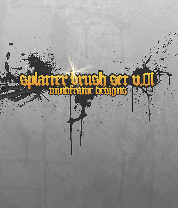 MF Splatter Brush Pack v.01 by Osiris2735