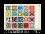 20 Thai Patterns - part 2
