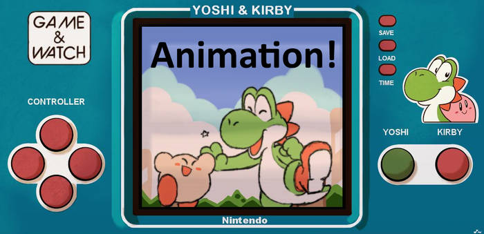 Yoshi and Kirby - Game and Watch