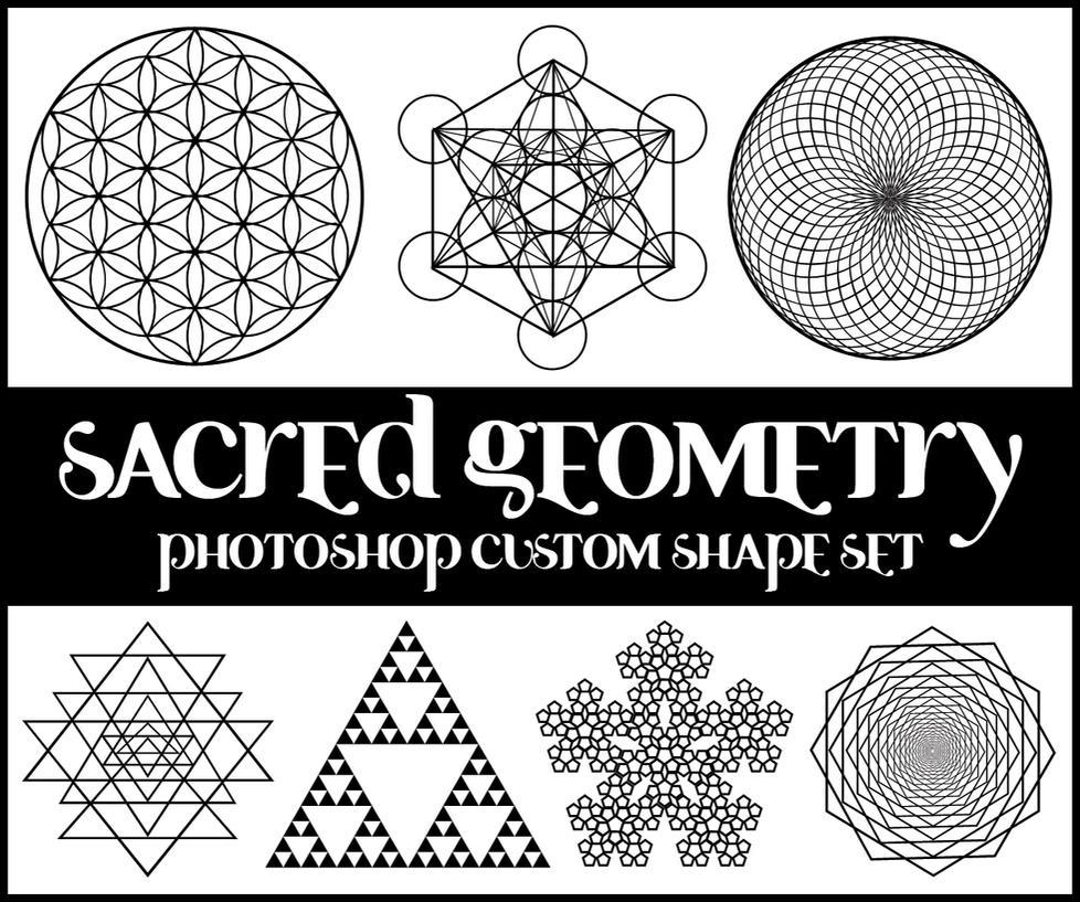 Sacred Geometry Custom Shapes by merrypranxter